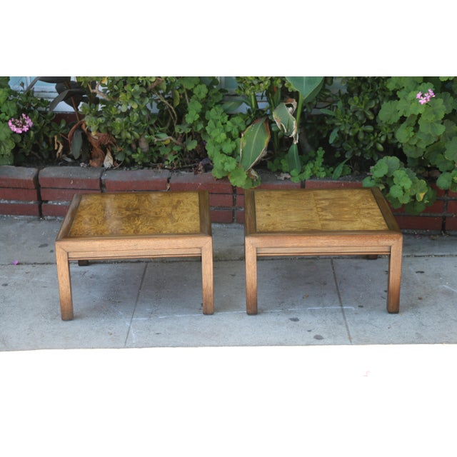 Mid-Century Modern 1960s Mid-Century Modern Henredon Burlwood Low Side Tables - a Pair For Sale - Image 3 of 8