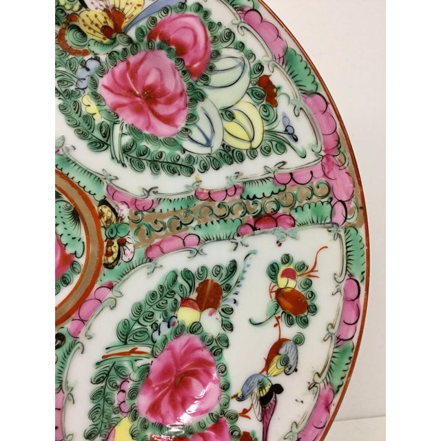 1940s 1940s Asian Hand Painted Decorative Plate For Sale - Image 5 of 10