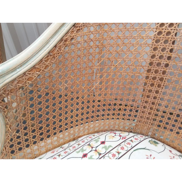 Caning Pair of Italian Barrel Shaped Cane Back Chairs For Sale - Image 7 of 11