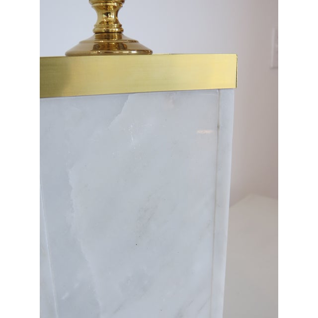 Custom Marble and Brass Lamp by C. Damien Fox - Image 5 of 9