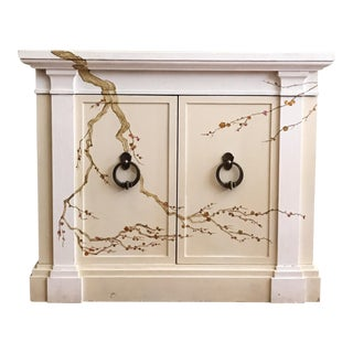 Freehand-Painted Chinoiserie Design Cabinet