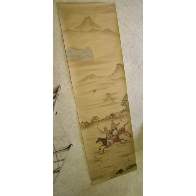 Painted Hunting Scene Mural Wallcovering For Sale - Image 12 of 12