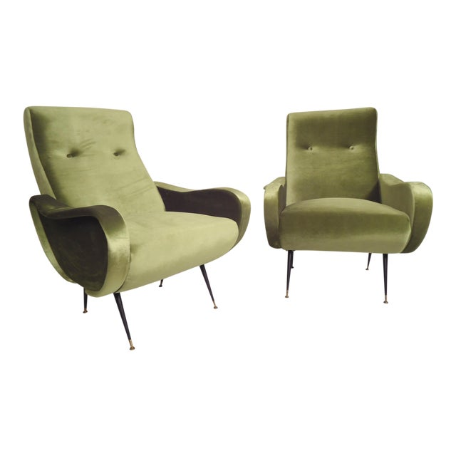 Italian Mid-Century Style Lounge Chairs - a Pair For Sale