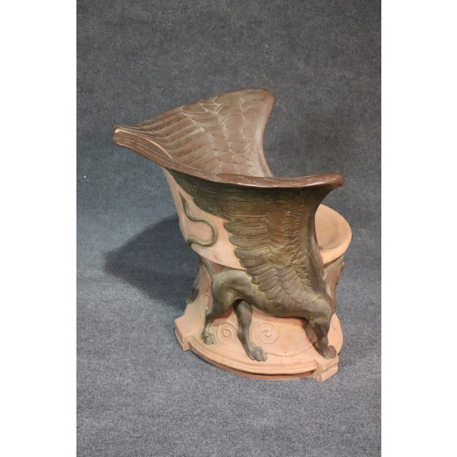 Mid 20th Century Italian Winged Griffin Club Chair For Sale - Image 5 of 9