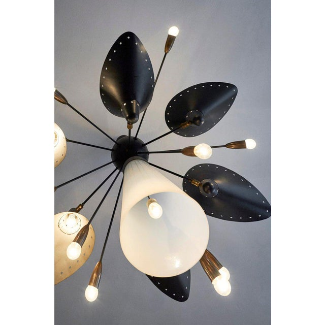 Mid-Century Modern Rare & Documented Claude Ferré Chandelier for the Casino De Royan, France, 1949 For Sale - Image 3 of 12