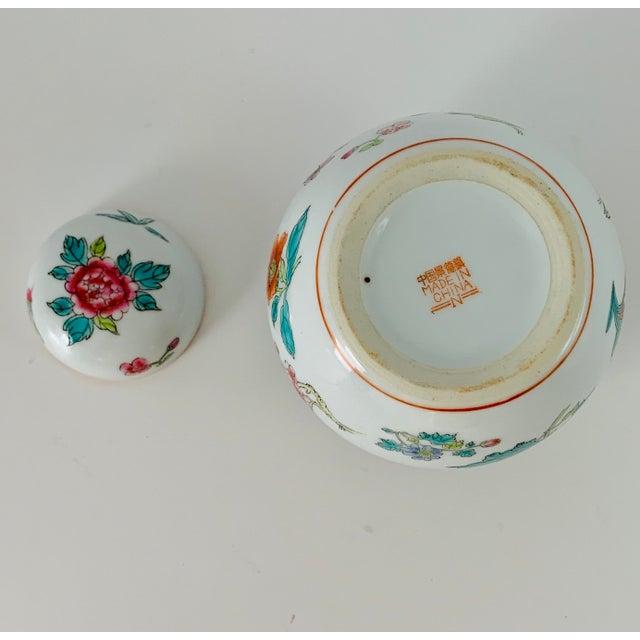 Vintage Chinese Floral Ginger Jar For Sale - Image 10 of 11