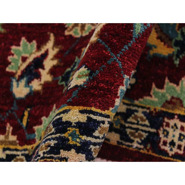 Ewa Red Hand-Knotted Wool Rug - 2'7 X 9'7 For Sale - Image 4 of 8