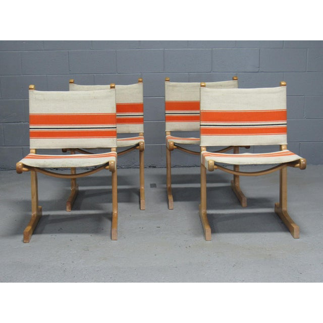 Vintage Mid Century Ditte & Adrian Heath for France & Son Cantilevered Dining Chairs- Set of 4 For Sale - Image 11 of 11
