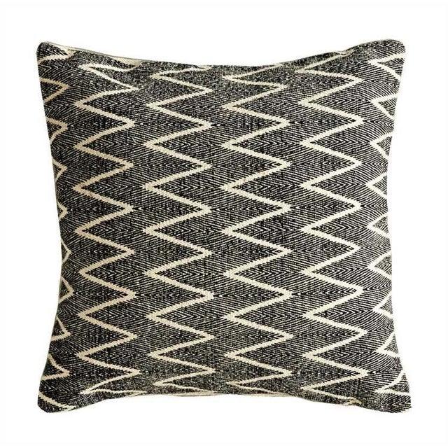 Natural & Black Printed Pillow - Image 2 of 2