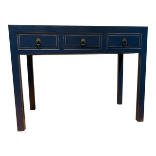 Ming Style Navy Blue Writing Desk For Sale