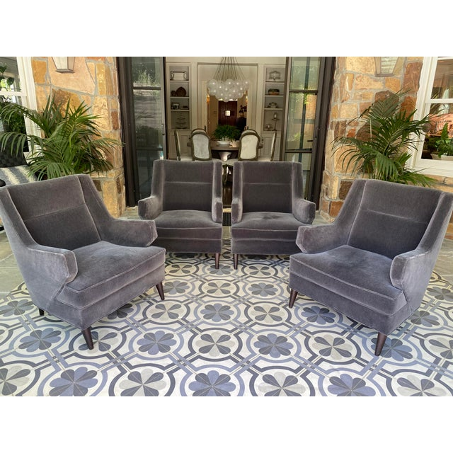 2020s Benjamin Club Chairs - Set of 4 For Sale - Image 5 of 6