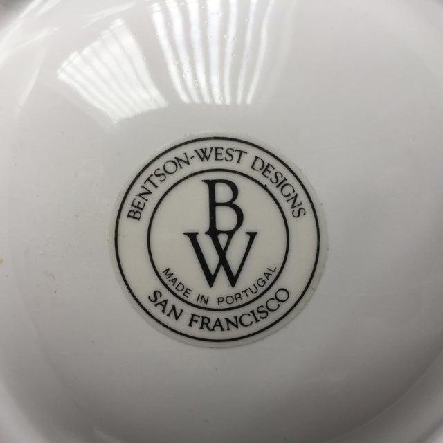 White 4 Majolica Artichoke Plates-Bentson West Designs For Sale - Image 8 of 10
