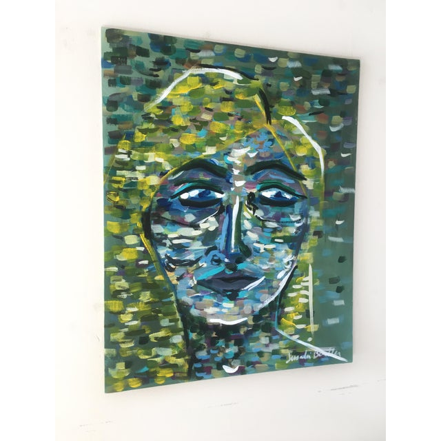 Portraiture Lady of the Grass Original Painting For Sale - Image 3 of 5