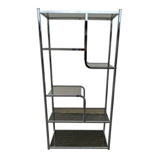 Vintage MId-Century Modern Chrome Etagere For Sale
