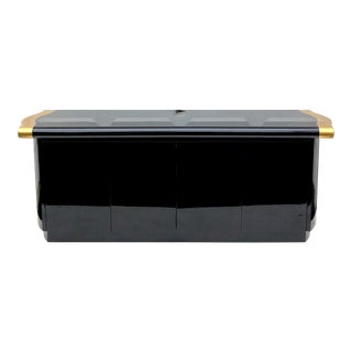 Vintage Modern Black Lacquer Sideboard For Sale