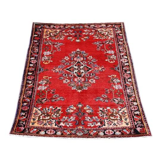 Handmade Persian Lilian Rug - 5″ × 7″ - Image 1 of 5
