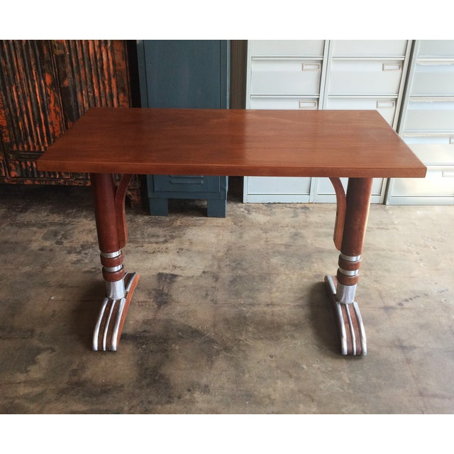 French Art Deco Bistro Dining Table - Image 2 of 11