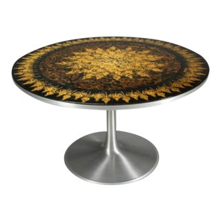 Poul Cadovius 1960's Dining Table in Aluminum Decorated by Susanne Fjeldsøe For Sale