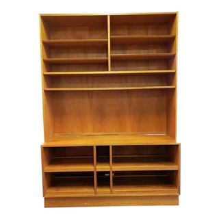 Mid-Century Modern Carlo Jensen for Hundevad & Co. Danish Teak Media Cabinet Bookcase For Sale
