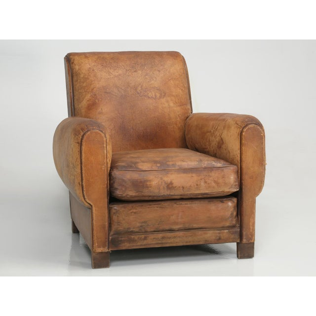French Art Deco Club Chair Carefully Restored For Sale - Image 13 of 13