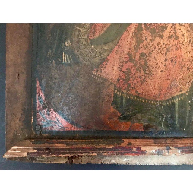 17th Century Antique Russian Orthodox Painting For Sale - Image 10 of 13