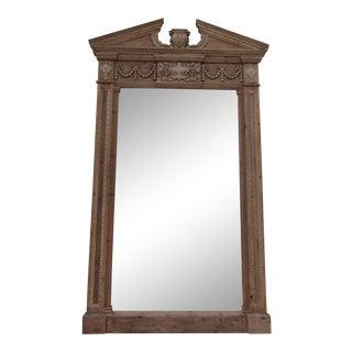 """Restoration Hardware """"Entablature"""" Floor Mirror For Sale"""