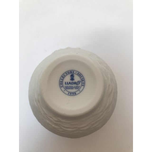 Lladro White Cup With Dolphins For Sale - Image 5 of 6