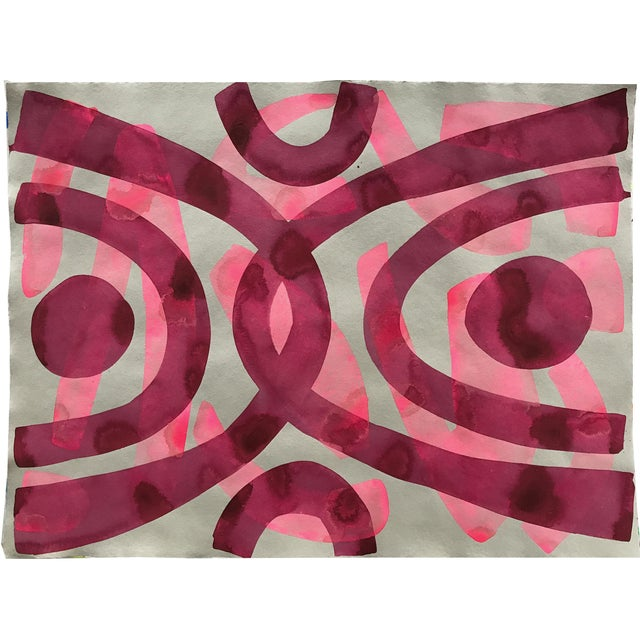 Abstract Pink on Pink Painting For Sale - Image 3 of 3