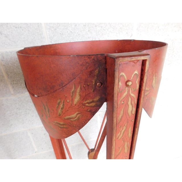 Late 20th Century French Directoire Style Paint Decorated Steel Plant Stands - a Pair For Sale - Image 5 of 10