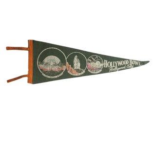 Vintage Hollywood Bowl Hollywood, Calif. Felt Flag Pennant For Sale