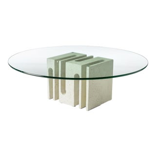 Contemporary Free Form Cube Coffee Table For Sale