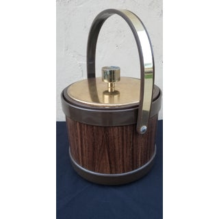 Vintage Mid-Century Faux Walnut Ice Bucket by Kromex Preview