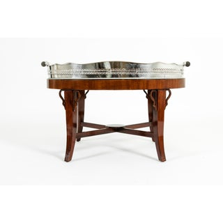 Mid-20th Century Plated High Gallery / Wood Interior Tray Table Preview