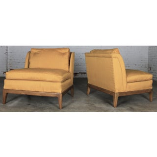 Drexel Vintage Mid-Century Gold Slipper Chairs - A Pair Preview