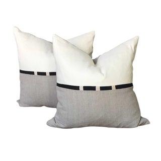 Natural Linen Pillows - a Pair For Sale