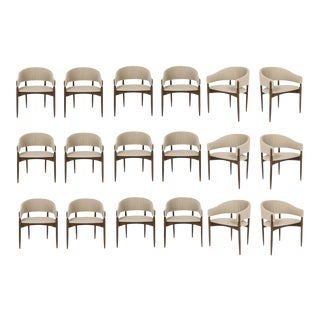 Set of 18 Enroth Dining Chairs For Sale