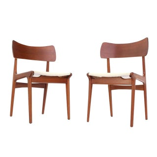 Set of Four Danish Mid Century Modern Teak Dining Chairs For Sale