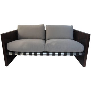 Modern Loveseat Attributed to Thayer Coggin For Sale