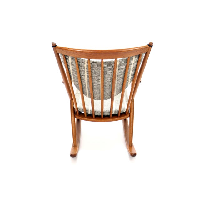 Vintage Frank Reenskaug for Bramin Mobler Danish Teak Rocking Chair For Sale In Denver - Image 6 of 12