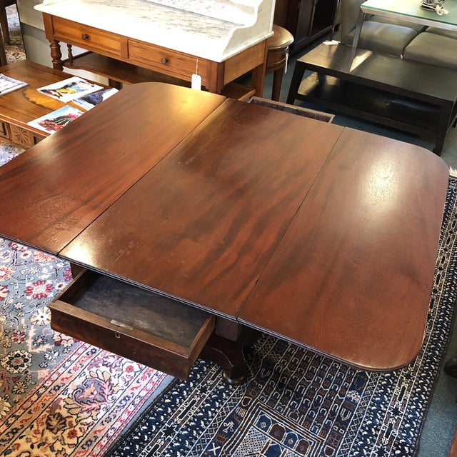 Mahogany 1900s British Colonial Mahogany Drop Leaf Table For Sale - Image 7 of 13