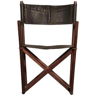 Mogens Koch Rosewood Mk-16 Directors / Safari Chair for Interna, Denmark, 1960s For Sale