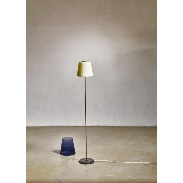 Stockmann Orno Yki Nummi Floor Lamp With Two Layered Shade for Orno, Finland, 1960s For Sale - Image 4 of 5