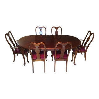 Vintage Dixie Furniture Co. Cherry Dining Set