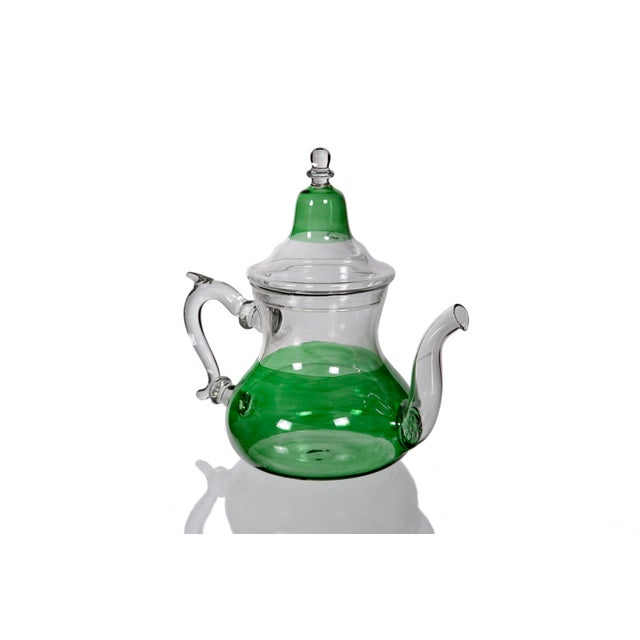 Moroccan Green Glass Teapot - Image 2 of 5