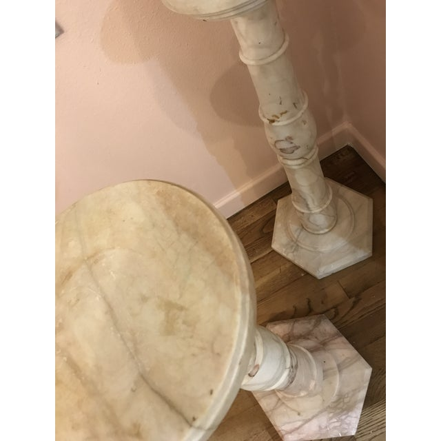 1950s 1950s Italian Pink Marble Pillars - a Pair For Sale - Image 5 of 8