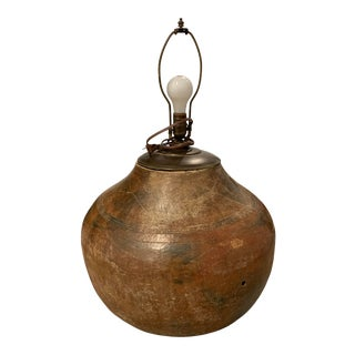Antique Extra Large Pottery Lamp For Sale