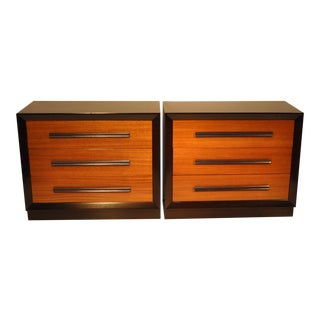 Pair of Midcentury John Stuart Bachelor Chests For Sale