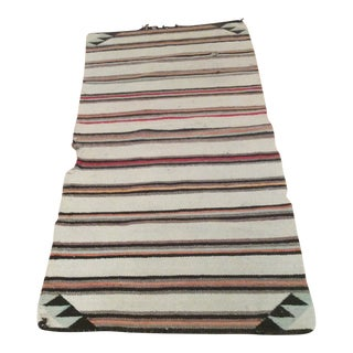 Vintage Navajo Striped Wool Rug - 2′4″ × 4′10″ For Sale