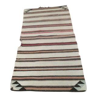 Vintage Navajo Striped Wool Rug - 2′4″ × 4′10″
