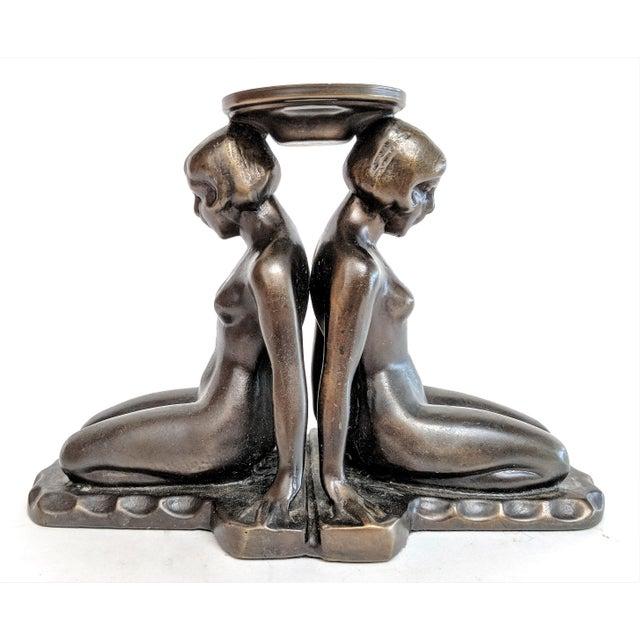 Art Deco Bronze Nudes Incense Burner For Sale - Image 9 of 9